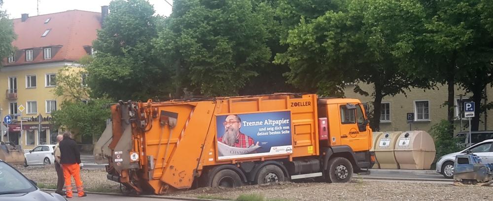Müllauto in München